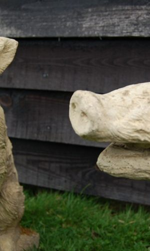 Pair of Stone Boars