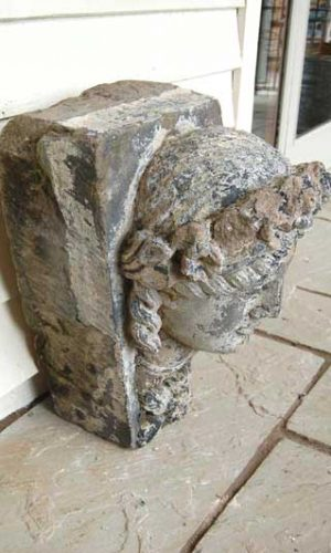 Large Carved Keystone of a Lady. An impressive salvage of an eminent lady £695.00. Buy online or visit Debden Barns Saffron Walden, Essex.