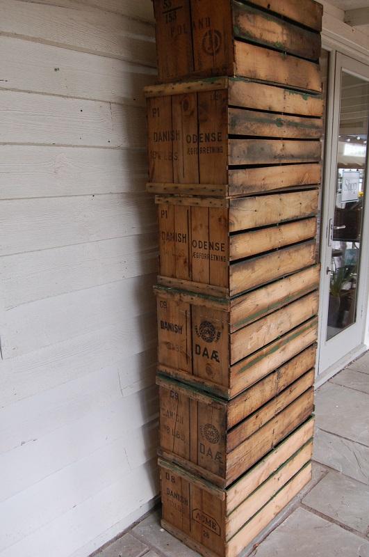 Vintage Wooden Painted Egg Boxes, great for storage, tables or shelving. £25. Buy online or visit Debden Barns Saffron Walden, Essex.