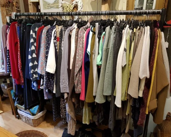 Nearly New Clothing at Berrick Antiques, Debden Barns, Saffron Walden