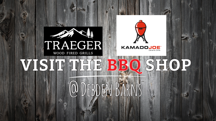 BBQ Shop at Debden Barns, Saffron Walden, Essex. Traeger & Kamado Joe