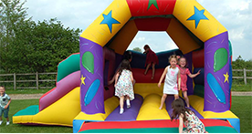 Bouncy Toms at Debden Barns, Saffron Walden